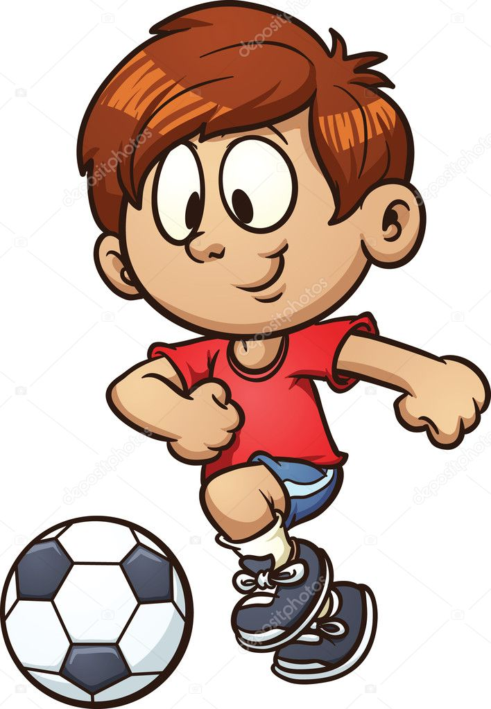 Kid football player vector