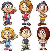 漫画の子供たち — ストックベクタ