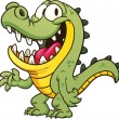 Cartoon crocodile. - Vettoriali Stock