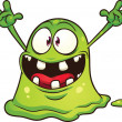 Vector de stock : Green blob monster