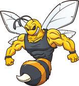 Hornet mascot — Stock Vector