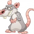 Evil cartoon rat — Stock Vector
