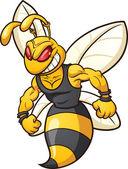 Wasp mascot — Stock Vector