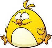 Cartoon fat chicken — Stock Vector