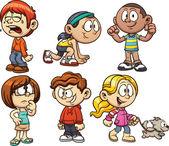 Cartoon kids — Stok Vektör