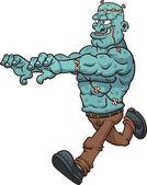 Running Frankenstein monster — Stock Vector