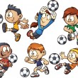 Soccer kids — Vector de stock