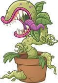 Carnivorous plant — Stock Vector