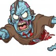 Crawling zombie — Stock Vector