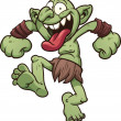 Stock Vector: Crazy troll