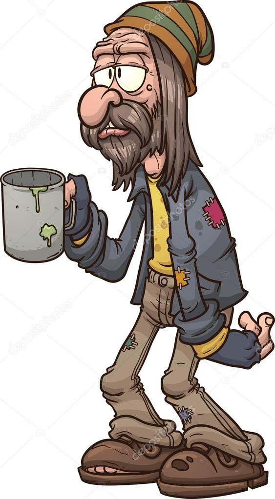 Homeless man — Stock Vector © memoangeles #38495591