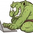Stock Vector: Internet troll