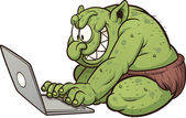 Internet troll — Stock Vector