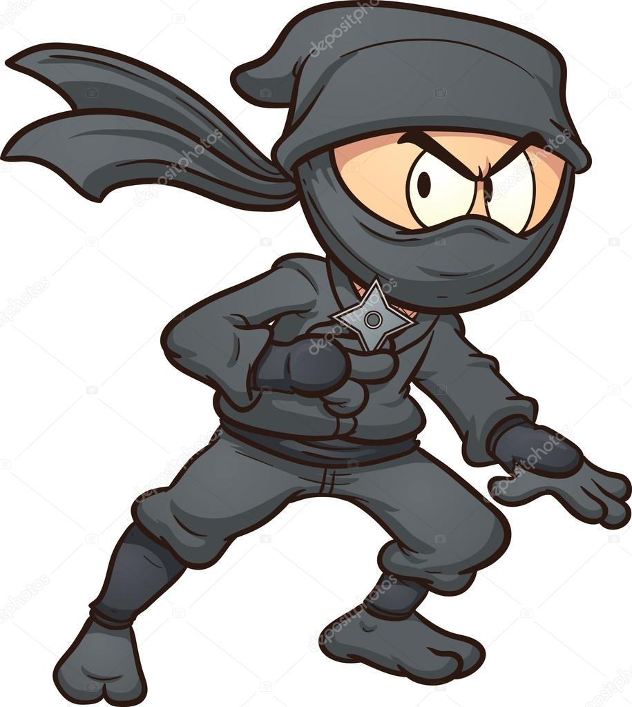 Dibujos animados ninja — Vector de stock © memoangeles #39409177