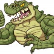 Alligator mascot — Stock vektor #40369007