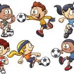 Soccer kids — Stock Vector #41718285
