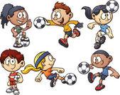 Soccer kids — Wektor stockowy