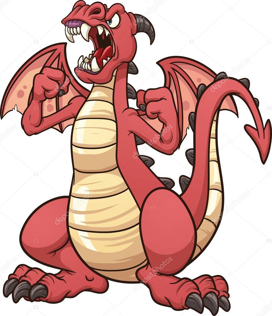 Angry dragon — stock vector memoangeles