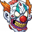 Zombie clown head — Stock Vector #45034419