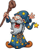 Cartoon wizard — Stock Vector