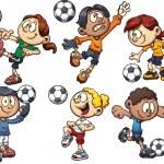 Soccer kids — Stock Vector #46510303