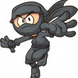 Постер, плакат: Cartoon ninja