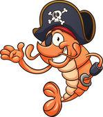 Pirate shrimp — Stock Vector