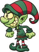 Evil Christmas elf — Stock Vector