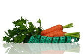 Carrots with parsley — Stock Photo
