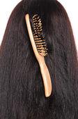 Wooden hairbrush — Zdjęcie stockowe
