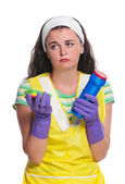 Crazy housewife — Stock Photo