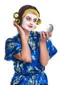 Woman with a mask — Stock Photo