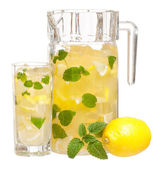 Lemonade with mint — Stock Photo