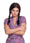 Displeased girl — Stock Photo