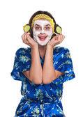 Gülümseyen kadın — Stok fotoğraf