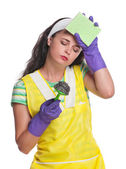 Tired housewife — Stock Photo