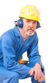 Yorgun işçi — Stok fotoğraf