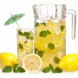 Stock Photo: Lemonade with mint