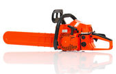 Gasoline-powered chainsaw — Stock Photo