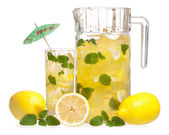 Lemonade with mint — Stock Photo