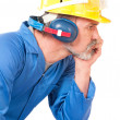 Tired worker — Stock Photo