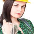 Young woman-contractor — Stock Photo