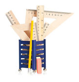 Wooden rulers — Stock Photo