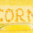 Stock Photo: Sweetcorn groats