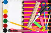 Bright writing-materials — Stock Photo