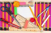 Bright school-accessories — Stockfoto
