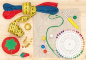 Embroidery accessories — Stock Photo