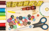 Sewing accessories — Stock fotografie