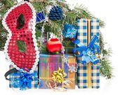 новогодние подарки — Стоковое фото