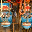 Nepalese decorative blue mask — Stock Photo